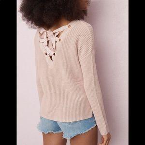 2/$40 GARAGE Blush Pink Sweater with Ribbon 🎀